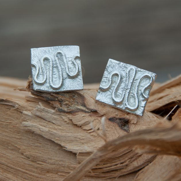 Wriggly Line Cuff Links