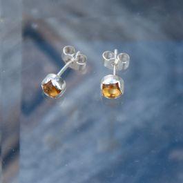 Citrine Rosebud Ear Studs
