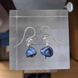 Purple Dyed Freshwater Pearl Earrings