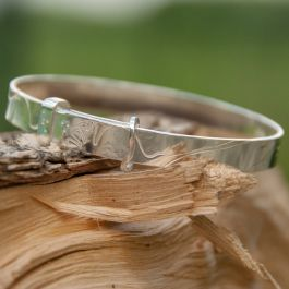 3rd from Top: Plain Poppy Bangle