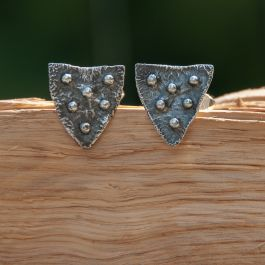 Shield Cuff Links with ball detailing