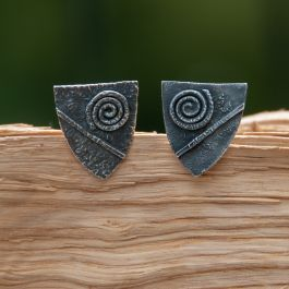 Shield Cufflinks (spiral)